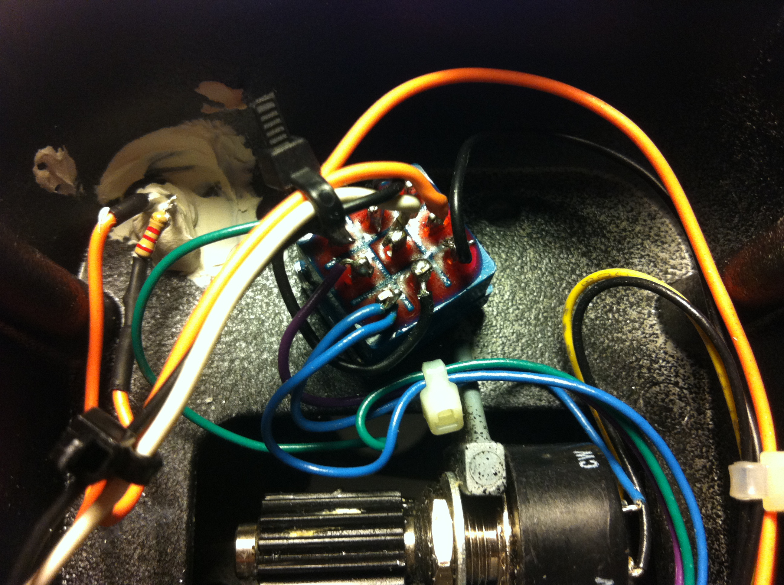 Convert Crybaby Wah Pedal To True Bypass Daniele Turani 3pdt Wiring Diagram Switch Installed